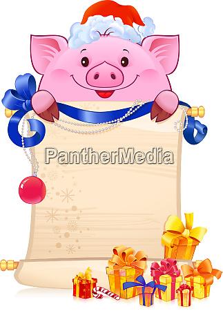 schwein ist ein symbol fuer das