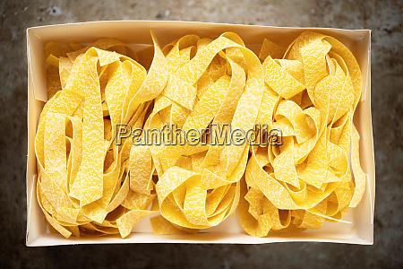 uncooked italian pappardelle pasta