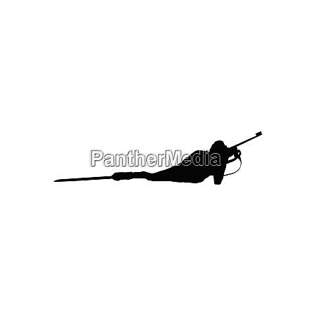 biathlon sportsman silhouette