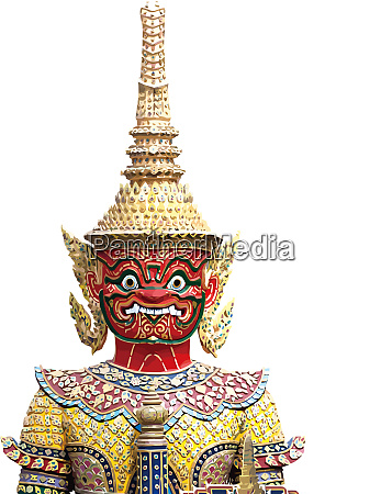 thai guardian ancient thai golden red