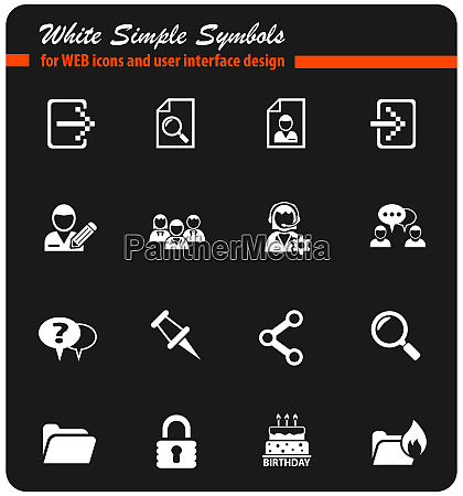 forum schnittstelle weisses icon set