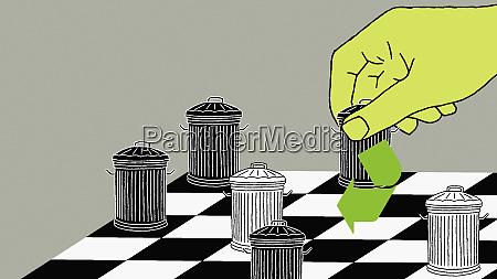 muell kann schachfiguren