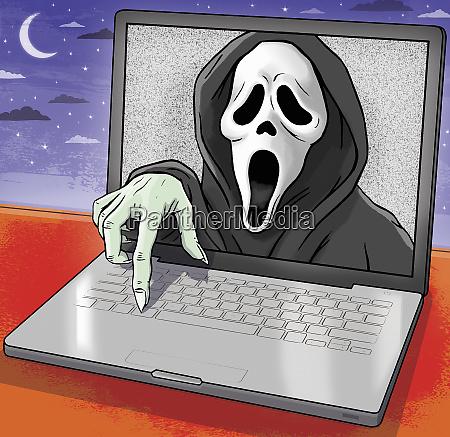 der scream entsteht vom laptop monitor