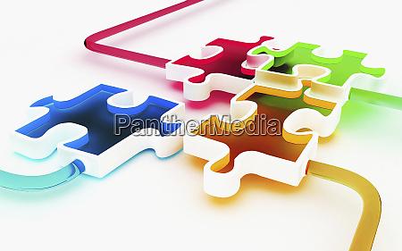 farbige puzzleteile