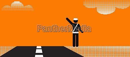 piktogramm eines autobahnpolizisten