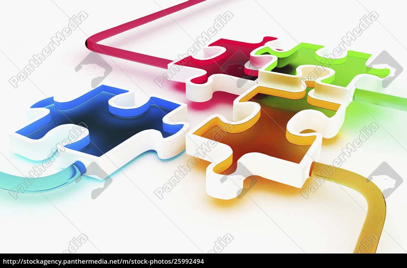 farbige, puzzleteile - 25992494