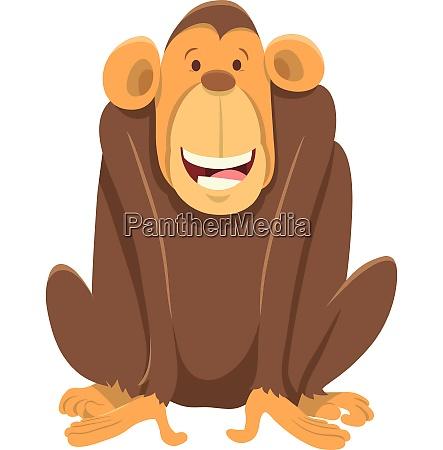 gluecklicher schimpansen affe tiercharakter