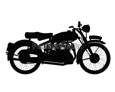 motor rad ssilhouette