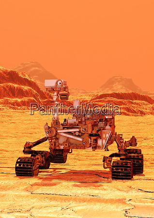 3d rendering mars rover