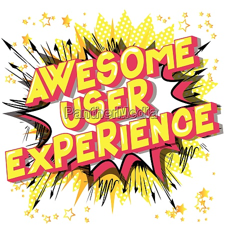 awesome user experience vector illustrated