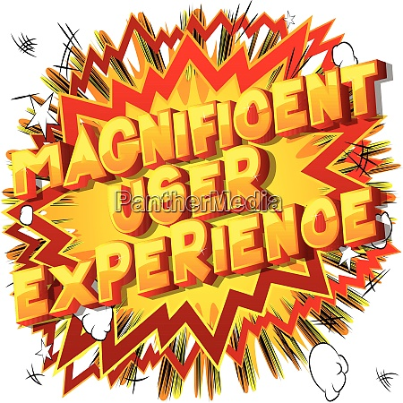 magnificent user experience vector illustrated