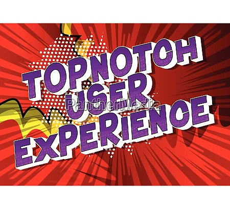 topnotch user experience vector illustrated