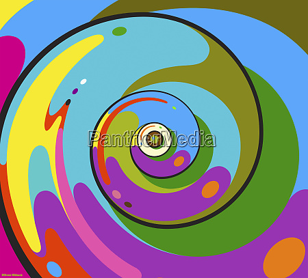 abstrakter whirlpool