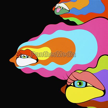 psychedelische mund und augenschmaus