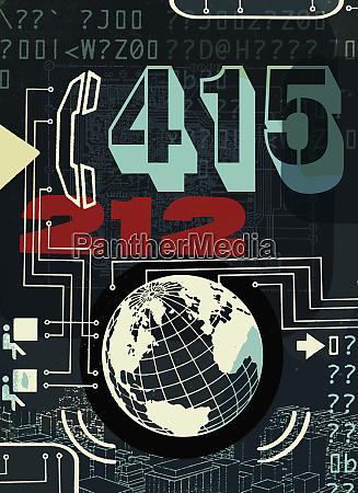 globale kommunikationscollage
