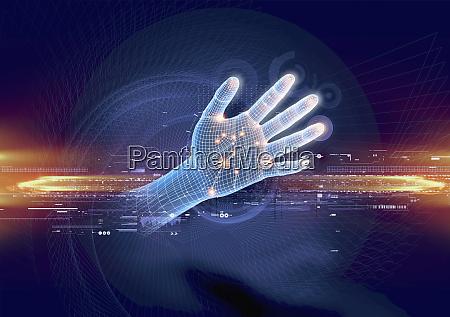 futuristische hand