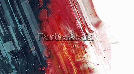 abstract montage of blue and red