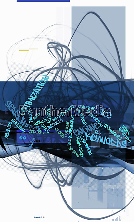 blue montage of business buzzwords