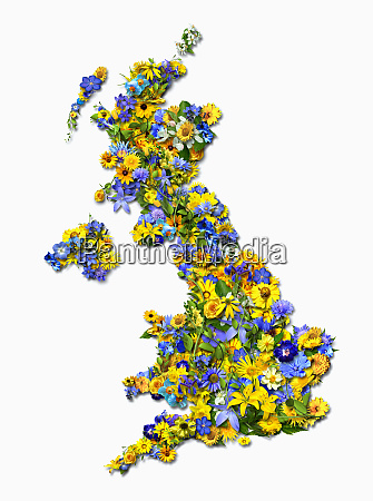 united kingdom formed by flowers