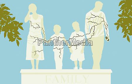 risse familienstatue