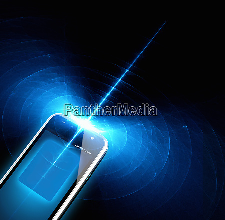 drahtloses technologie signal von smartphone