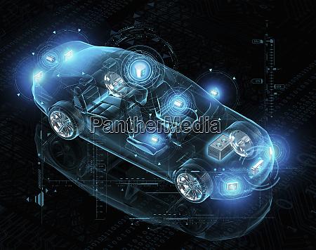 computerdesign fuer elektrisches fahrerloses auto