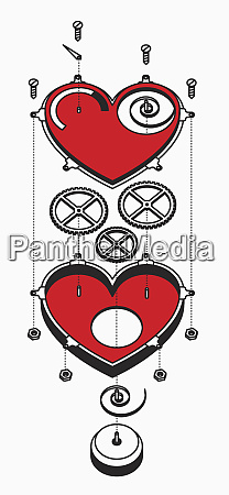 heart and cogs