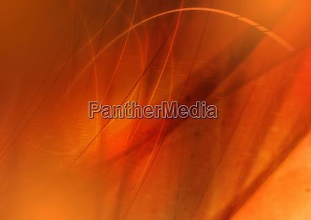 abstraktes bild von orangefarbenen wirbelnden linien
