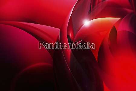 abstract swirling red shapes