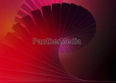 abstraktes wirbelnde rote spirale