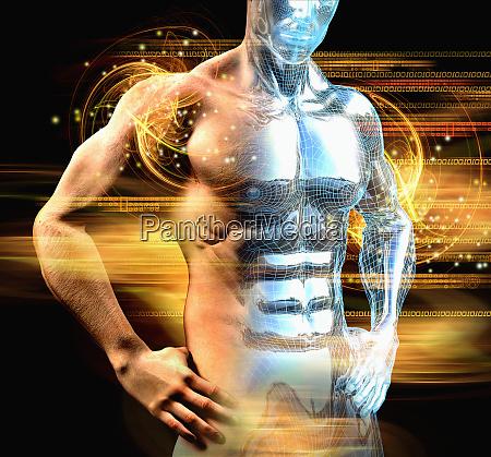 mans muskuloeser oberkoerper