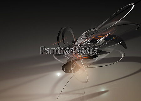 digitally generated abstract with lines intertwining