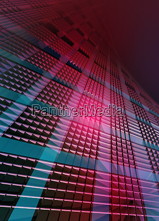 abstract glowing towering grid