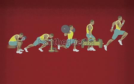 abfolge des menschen training gewichtstraining und
