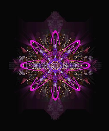 purple kaleidoscope pattern