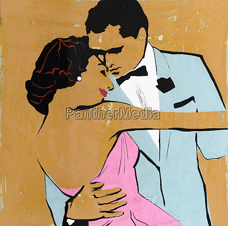 elegant couple dancing