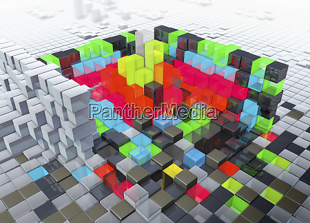 abstract three dimensional structure with layers