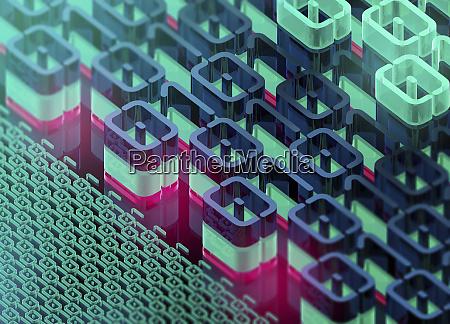 dreidimensionale binaere codemuster