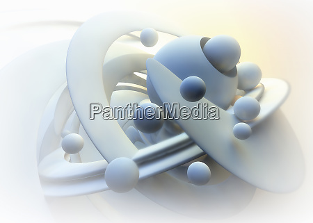 complex abstract pattern of circles and