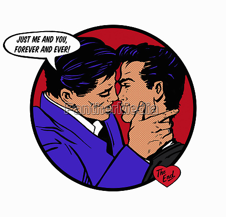 two men kissing and making commitment