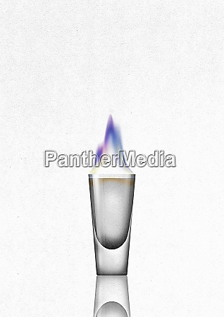 flaming shot glass