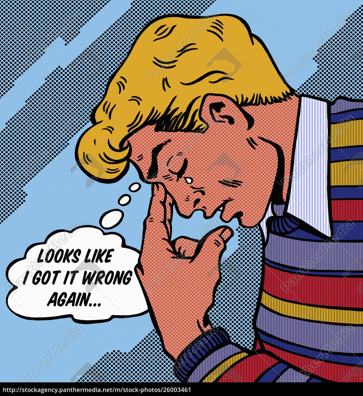 mann, weint, mit, bedauern, über, fehler - 26003461