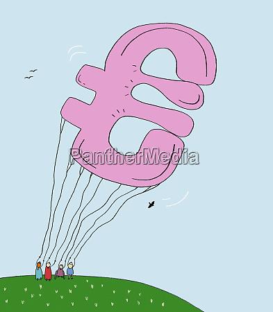 grosser euro symbolballon