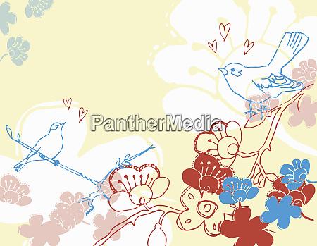 bird and flower design