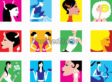 montage of women representing signs of