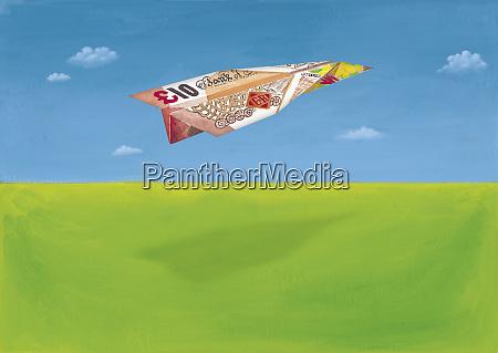 britische 10 pfund note in form