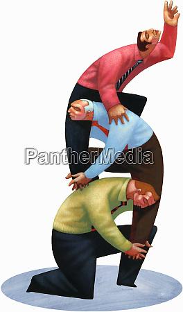 geschäftsleute, unterstützen, kollegen, die, auf, den, rücken - 26004610