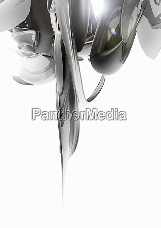 abstrakte graue wirbelnde formen