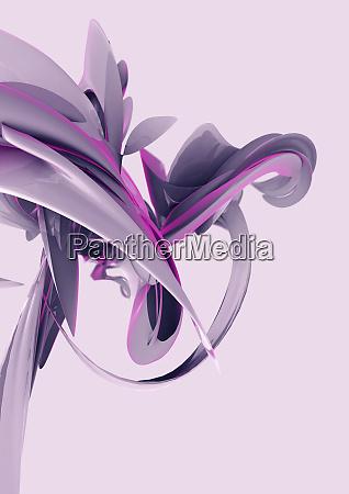 abstrakte rosa wirbelnde formen