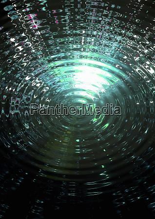 green ripple pattern